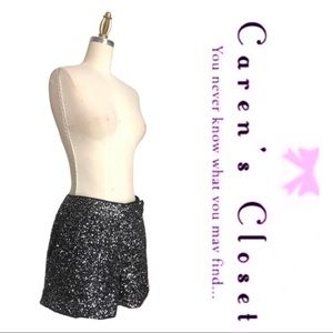 Kenneth Cole Black & Silver Sequin Dress Shorts